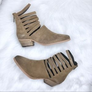 Free People Sloane Ankle Boot Tan Suede Boot
